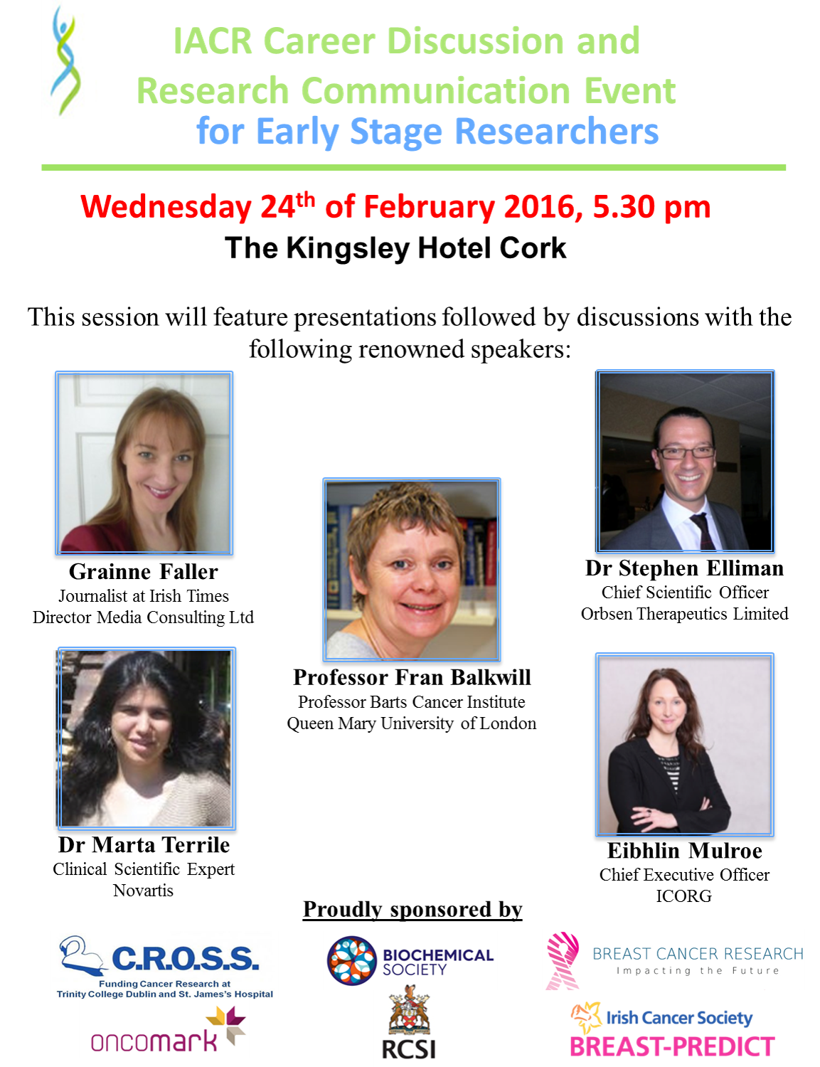 Communication event for early stage researchers